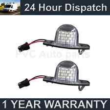 2X FOR HONDA CRV CR-V STREAM LOGO WHITE LED NUMBER PLATE LIGHT LAMPS