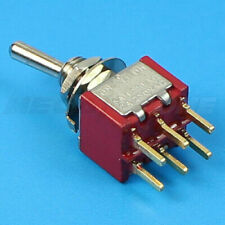 5pcs 3 position 2P2T Double Pole Double Throw ON-OFF-ON Miniature Mini Toggle Switch Y1F7