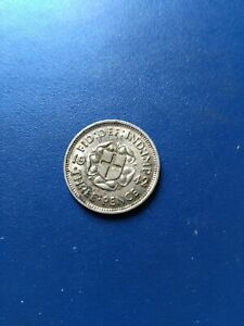 1942 UK Great Britain Three Pence Silver Coin, No Reserve!