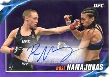 2019 TOPPS UFC KNOCKOUT PURPLE PARALLEL THUG ROSE NAMAJUNAS AUTO #/25