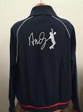 * Lacoste Sport Mens 2XL XXL Black Track Jacket Coat Tennis Andy Roddick SH5215