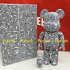 Medicom Be@rbrick 2019 Keith Haring 400% + 100% versione #4 BEARBRICK Set 2pcs