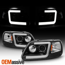 Fits Black 97-03 Ford F150 / 97-02 Expedition LED Bar Projector Headlights