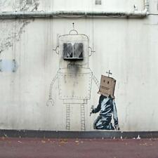Posavasos De Vidrio Banksy Estilo Moderno Street Art Hecha en Reino Unido Art 2 glassuk Regalo 2170