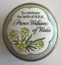 Halcyon Days Enamel England Birth of Prince William of Wales 1 ¼� Trinket Box
