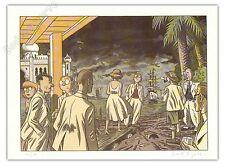Affiche Le Gall Théodore Poussin réunion + Carte postale 150ex signé 28x38