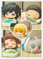 5pcs Anime Demon Slayer: Kimetsu no Yaiba Sleeping Doll PVC Figure Statue Toy