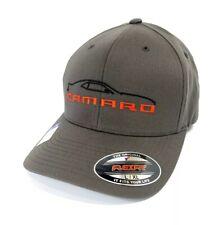 5th Generation Chevy Camaro Hat / Cap - Gray w/ Black Silhouette & Script Emblem