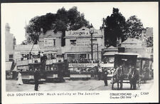 Hampshire Postcard - Old Southampton - Tram Activity At The Junction  A5489