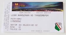 Ticket for collectors EL Legia Warszawa Trabzonspor Kulubu 2013 Poland Turkey
