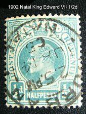 1902 NATAL King Edward VII light blue HALF Penny stamp