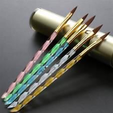 5pcs Acrylic 3d Painting Drawing UV GEL DIY Brush Pen Tool Nail Art Set