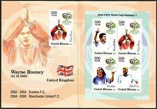 Guinea - Bissau 2005 Soccer Germany 2006 Booklet FDC on st. W. Rooney (England)