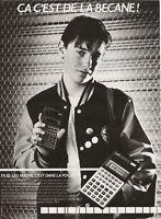 Publicité ancienne calculatrice Casio 1982  issue de magazine