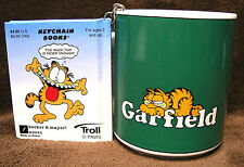 "GARFIELD ""BIRTHDAYS LIKE DOGS"" cup/mug BONUS keychain  book ""WORLD ACCORDING TO"""