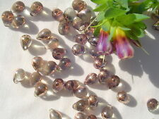 25  8x6mm #2-Apollo(Gold) Glass Tear Drop Beads