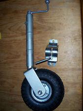 Jockey wheel 10 inch pump up tyre, clamp type 500lb rating