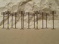 CLASSIC ~ 12 TELEPHONE POLES by BACHMANN ~ N Scale Lot ~ Mayhayred Trains