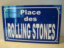 ROLLING STONES plaque de rue objet collection cadeau pour fan déco originale