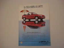 advertising Pubblicità 1988 OPEL KADETT CABRIO BERTONE