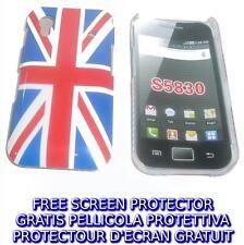 Pellicola+custodia BACK COVER UK FLAG NEW per Samsung Galaxy Ace S5830