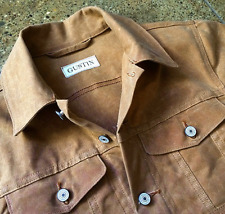 Gustin waxed trucker jacket medium 40 - 42  flison levis denim type 2 3 canvas