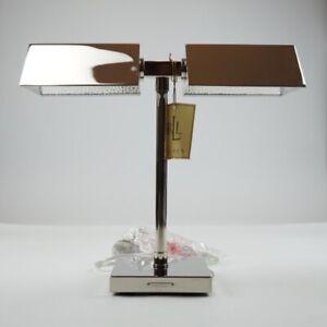 Lauren Ralph Lauren Home Agatha O'Bankers Dual Double Desk Table Lamp - Silver