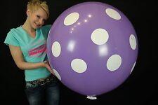 """1 x Cattex 32"""" Riesenluftballon POLKA DOTS + Verschluss/+Clip"""
