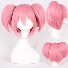 Puella Magi Madoka Magica Kaname Madoka Cosplay Wig Heat Resistant Hair +Wig Cap