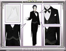 Black Butler 2 Claude Faustus Black Demon Suit Outfit Cosplay Costume Uniform #9