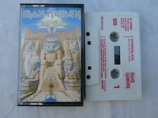 CASSETTE IRON MAIDEN POWERSLAVE brilliant cassette