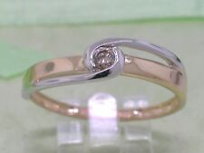 Brillant Ring 585 Gold 14Kt Gold 1 Brillant 0,06ct