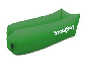 SnugBoy - Inflatable Air Bed Lounger Couch Chair Sofa Bag - Green