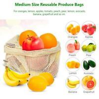 Reusable Cotton Mesh Bags For Fruit Vegetable Organize Bag