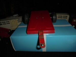 Red  FLAT TRAILER Farm Tractor Attachment Vintage