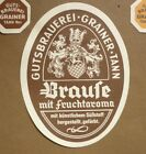 1950s GERMAN BEER LABEL BIERETIKETTEN, GUTSBRAUEREI GRAINER TANN GERMANY, BRAUFE