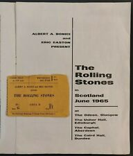 The Rolling Stones in Scotland, June 1965 Programme & Ticket from Edinburgh Show