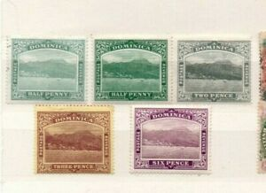 A very nice unused Dominica group to 6d