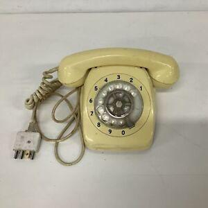 1980's Retro Rotary Telephone Yellow  #454