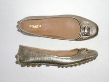 NEW Women's COACH VERNON Ballet Flat, Light Gold Leather, Style A5850, 7.5, $168