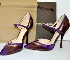 Femmes Chaussures Prune Cuir Verni Talon Haut Tennis par Bottega Veneta Taille 7