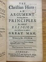 The Christian hero: an argument... (About principles of Religion) 1711 Steele