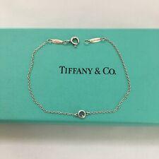 """Tiffany & Co Silver Elsa Peretti Color By Yard Aquamarine 8.25"""" Bracelet POUCH"""