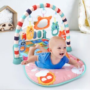 Gym Baby Play Mat Fitness Crawling Carpet Piano Keyboard Music Toy Kid Bouncer