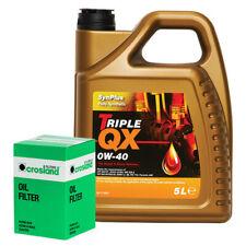 VOLVO V70 2.4 D5 Oil Filter + Triple QX Fully Syntetic Plus 0W40 Engine Oil 5L