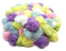 Craft Rabbit Fur Pom Pom Balls - 50 pack pastel colors