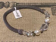 Brighton Stretch Stretchy Beaded Bracelet Pearls Swarovski Crystals NEW