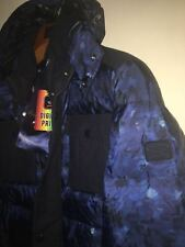 NEW Paul & Shark Yachting Jacket Blue Navy Camoufage Size L Feather Fill Power