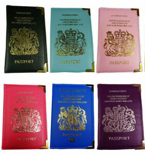 Multi color PU Leather travel PASSPORT HOLDER COVER Protector CASE  New