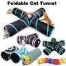 Pet Cat Tunnel Collapsible Play Tubes Toys Kitten Rabbit Tunnels Indoor Outdoor
